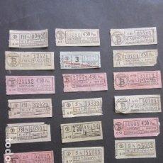 Coleccionismo Billetes de transporte: LOTE 20 BILLETES CAPICUA TRANVIAS DE BARCELONA DIFERENTES NUMEROS SERVICIOS NOCTURNOS. Lote 172062049