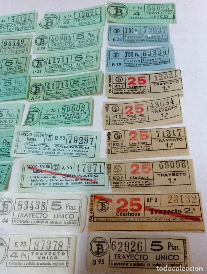 Coleccionismo Billetes de transporte: LOTE 54 BILLETES CAPICUA TRANVIA DE BARCELONA. - Foto 2 - 172097374