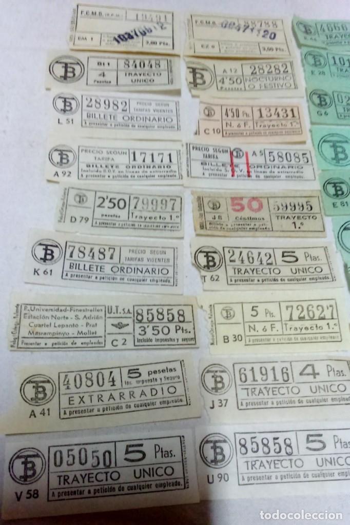Coleccionismo Billetes de transporte: LOTE 54 BILLETES CAPICUA TRANVIA DE BARCELONA. - Foto 4 - 172097374
