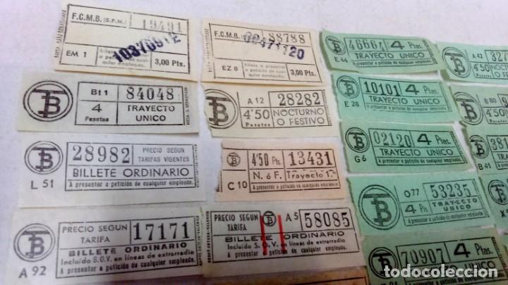 Coleccionismo Billetes de transporte: LOTE 54 BILLETES CAPICUA TRANVIA DE BARCELONA. - Foto 5 - 172097374