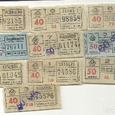 Coleccionismo Billetes de transporte: GRAN METRO BARCELONA.10 BILLETES MODELO 2. Lote 172717465