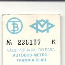 Coleccionismo Billetes de transporte: BARCELONA.TARJETA RESISTIVA. Lote 172718709