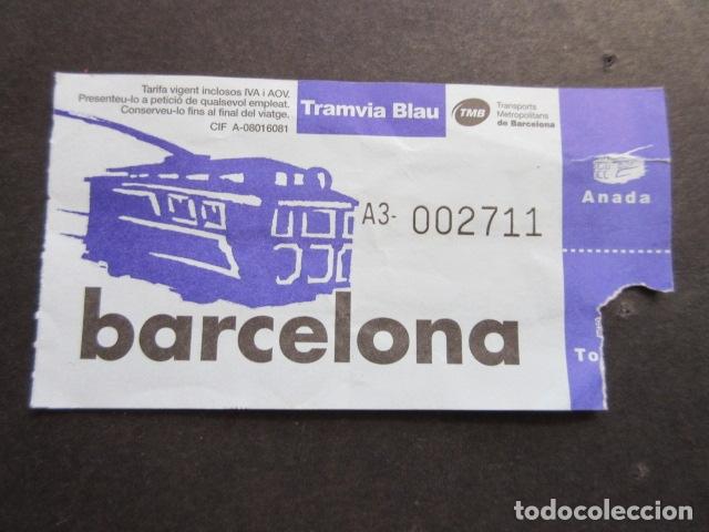 BILLETE TRANVIA BLAU AZUL TIBIDABO (Coleccionismo - Billetes de Transporte)