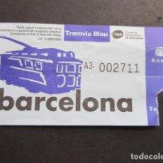 Coleccionismo Billetes de transporte: BILLETE TRANVIA BLAU AZUL TIBIDABO. Lote 172874577