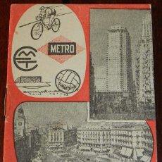 Coleccionismo Billetes de transporte: GUIA DE LINEAS DE AUTOBUSES, TROLEBUSES Y TRANVIAS EN MADRID, AÑO 1962, CALENDARIO DE CAMPEONATO DE . Lote 173048069