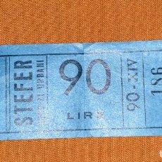 Coleccionismo Billetes de transporte: BILLETE TRANSPORTE URBANO ITALIANO DE 90 LIRAS.. Lote 173096784