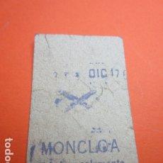 Coleccionismo Billetes de transporte: METRO MADRID PARADA MONCLOA MODELO ASPA O CRUZ - TRASERA METRO B - 55. Lote 173664455
