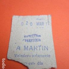 Coleccionismo Billetes de transporte: METRO MADRID CAPICUA 020 PARADA A. MARTIN MODELO CUALQUIER TRAYECTO - TRASERA 7 RENGLONES. Lote 173664722