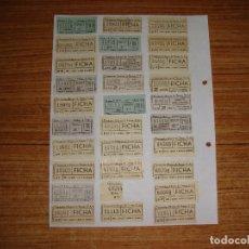 Coleccionismo Billetes de transporte: (ALB-TC-105) LOTE DE BILLETES CAPICUAS. Lote 173696399