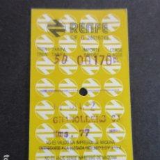 Coleccionismo Billetes de transporte: BILLETE HUGIN RENFE RIPOLL 2 GRANOLLERS 1988. Lote 173839368