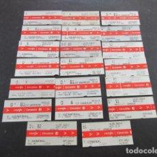 Coleccionismo Billetes de transporte: LOTE 20 BILLETES DIFERENTES CERCANIAS RENFE DE MADRID ESTACIONES DIFERENTES. Lote 173840122