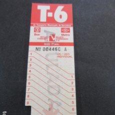 Coleccionismo Billetes de transporte: ARD-TRCOL1 - 1 TARJETA RESISTIVA T6 NUEVA SIN USAR 9 VIAJES. Lote 173843330