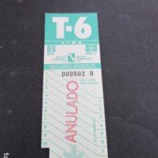 Coleccionismo Billetes de transporte: ARD-TRCOL1 - 1 TARJETA RESISTIVA T6 NUEVA SIN USAR 10 VIAJES. Lote 173843353