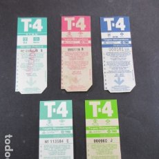 Coleccionismo Billetes de transporte: ARD-TRCOL1 - 5 TARJETA RESISTIVA T4 COLECCION DIFERENTES NUEVA SIN USAR 10 VIAJES. Lote 173843470