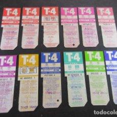 Coleccionismo Billetes de transporte: ARD-TRCOL1 - COLECCION 12 TARJETA RESISTIVA T-4 DIFERENTES. Lote 173844222