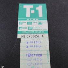 Coleccionismo Billetes de transporte: ARD-TRCOL1 - AÑO 1987 COLECCION 1 TARJETA RESISTIVA DIFERENTES T-1 VERDE 10 VIAJES SIN PRECIO. Lote 173850499