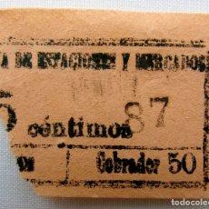 Coleccionismo Billetes de transporte: ANTIGUO BILLETE DE TRANVÍA.. Lote 174398113