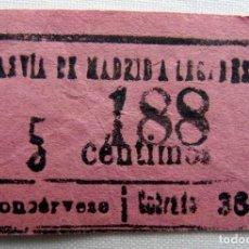 Coleccionismo Billetes de transporte: ANTIGUO BILLETE DE TRANVÍA.. Lote 174413739