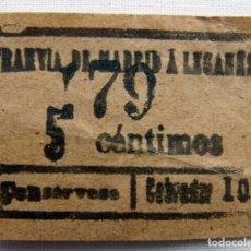 Coleccionismo Billetes de transporte: ANTIGUO BILLETE DE TRANVÍA.. Lote 174414034