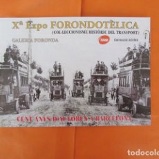 Coleccionismo Billetes de transporte: LIBRITO EXPOSICION FORONDOTELICA TRANVIAS BARCELONA IMPRESIONANTES FOTOS 24 PAGINA FERROCARRIL RENFE. Lote 190082076