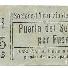 Coleccionismo Billetes de transporte: AH5.TRANVIA NORTE MADRID.PUERTA SOL-CHAMBERI.10 CTS. Lote 174990952