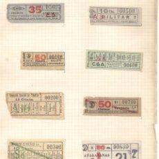 Coleccionismo Billetes de transporte: COLECCION CAPICUAS.LA MAYORIA BARCELONA.AÑOS 20-60. Lote 174992375