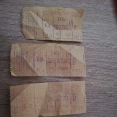 Coleccionismo Billetes de transporte: 4 BILLETES DE BUS. MADRID AÑO 69.. Lote 175104613