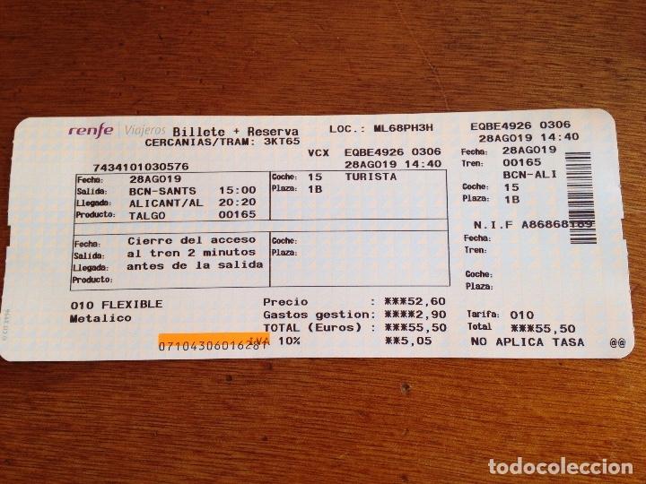 BILLETE RENFE (Coleccionismo - Billetes de Transporte)