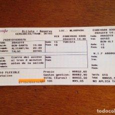 Coleccionismo Billetes de transporte: BILLETE RENFE. Lote 175413920
