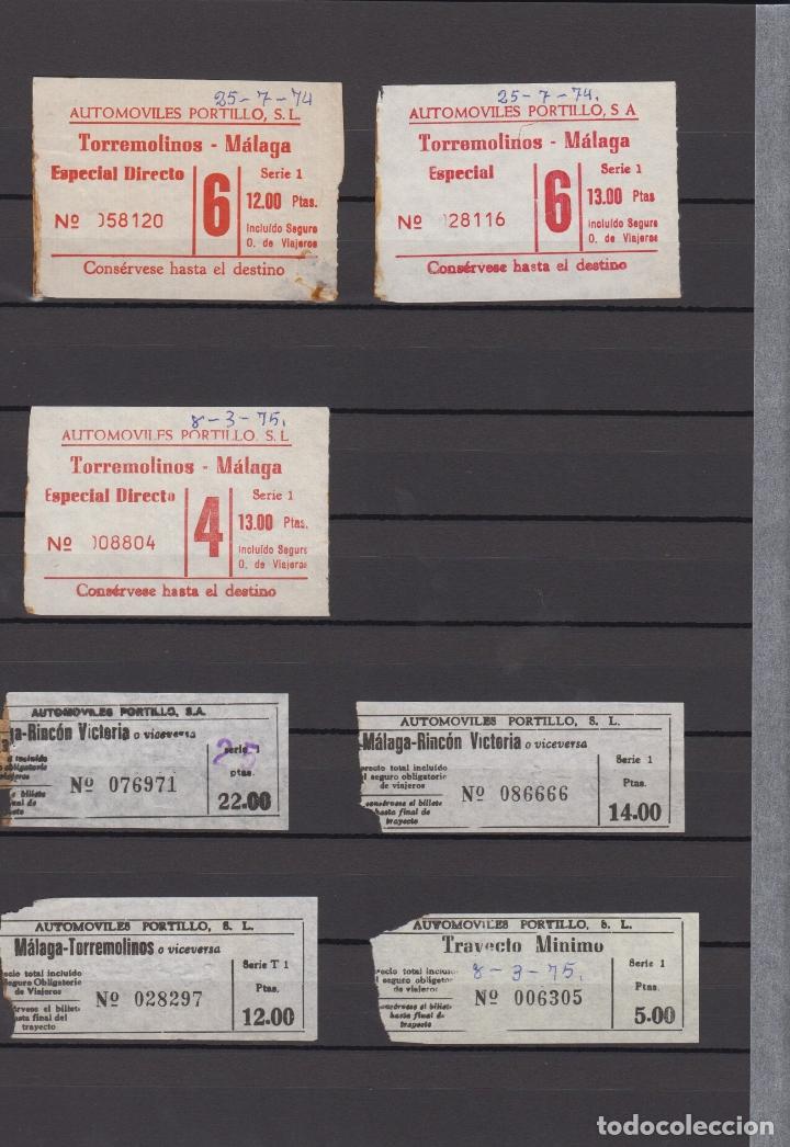 Coleccionismo Billetes de transporte: 34 BILLETES DIFERENTE AUTOMOVILES PORTILLO MALAGA TOLOX COIN MARBELLA TORREMOLINOS rincon victoria - Foto 2 - 175537514