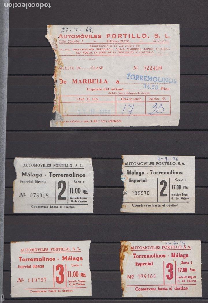 Coleccionismo Billetes de transporte: 34 BILLETES DIFERENTE AUTOMOVILES PORTILLO MALAGA TOLOX COIN MARBELLA TORREMOLINOS rincon victoria - Foto 3 - 175537514