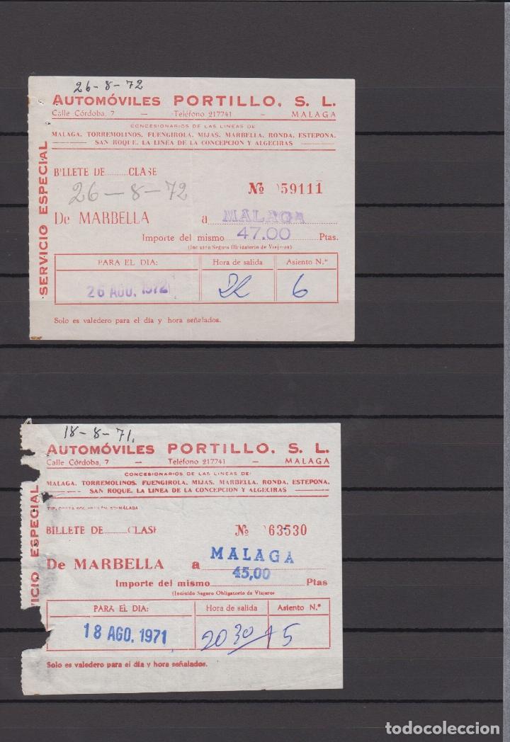 Coleccionismo Billetes de transporte: 34 BILLETES DIFERENTE AUTOMOVILES PORTILLO MALAGA TOLOX COIN MARBELLA TORREMOLINOS rincon victoria - Foto 4 - 175537514