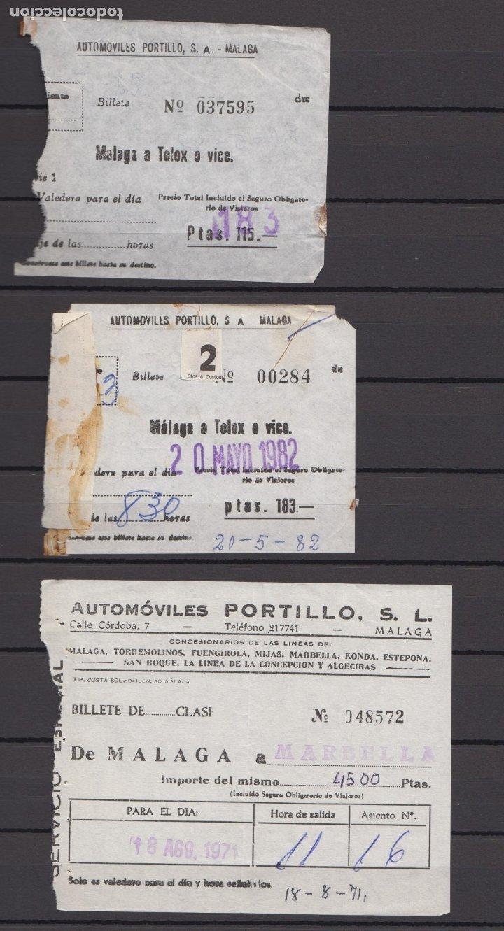 Coleccionismo Billetes de transporte: 34 BILLETES DIFERENTE AUTOMOVILES PORTILLO MALAGA TOLOX COIN MARBELLA TORREMOLINOS rincon victoria - Foto 5 - 175537514