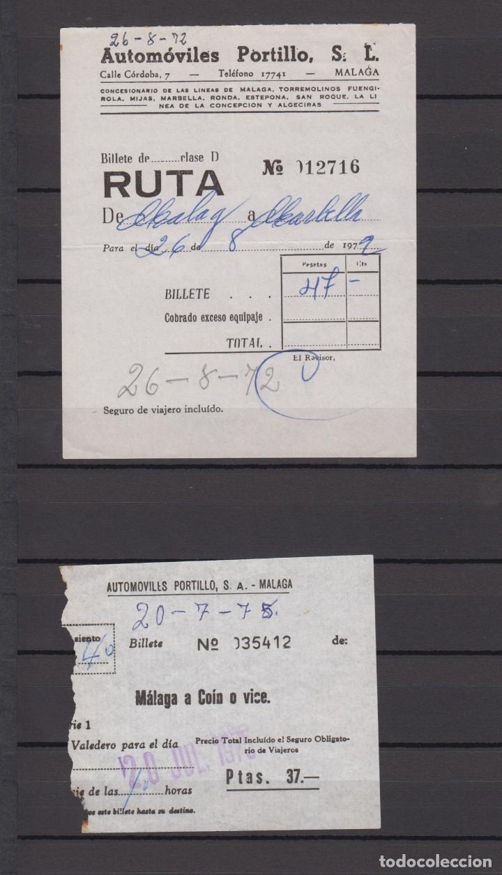 Coleccionismo Billetes de transporte: 34 BILLETES DIFERENTE AUTOMOVILES PORTILLO MALAGA TOLOX COIN MARBELLA TORREMOLINOS rincon victoria - Foto 6 - 175537514