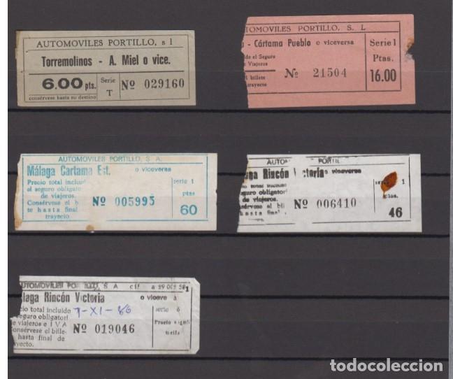 Coleccionismo Billetes de transporte: 34 BILLETES DIFERENTE AUTOMOVILES PORTILLO MALAGA TOLOX COIN MARBELLA TORREMOLINOS rincon victoria - Foto 7 - 175537514