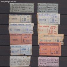 Coleccionismo Billetes de transporte: COLECCION 55 BILLETE DIFERENTES TRANSPORTES URBANOS DE MALAGA. Lote 175539084