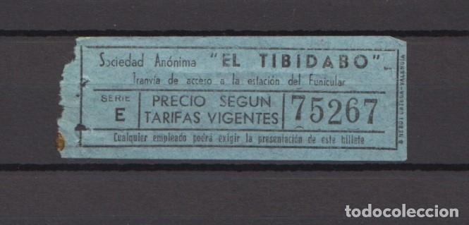 BILLETE TRANVIA AZUL BLAU TIBIDABO (Coleccionismo - Billetes de Transporte)
