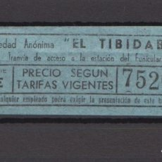 Coleccionismo Billetes de transporte: BILLETE TRANVIA AZUL BLAU TIBIDABO. Lote 175539729
