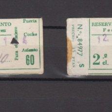 Coleccionismo Billetes de transporte: LOTE 2 RESERVAS ASIENTO RENFE CONSECUTIVAS SELLO MADRID 1968. Lote 175540104