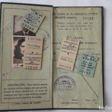 Coleccionismo Billetes de transporte: BILLETE KILOMÉTRICO, TARIFA 9, 2ª CLASE 4.000 KM. FEBRERO DE 1956. Lote 175639775