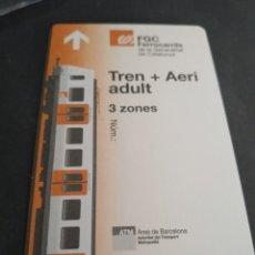 Coleccionismo Billetes de transporte: TARJETA TREN + AEREO ADULTO 3 ZONAS. Lote 175836930