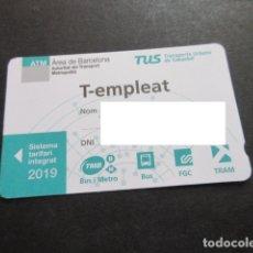 Coleccionismo Billetes de transporte: TARJETA AÑO 2019 T EMPLEADO. Lote 175836987