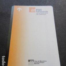 Coleccionismo Billetes de transporte: TARJETA FERROCARRILES GENERALITAT. Lote 175837478