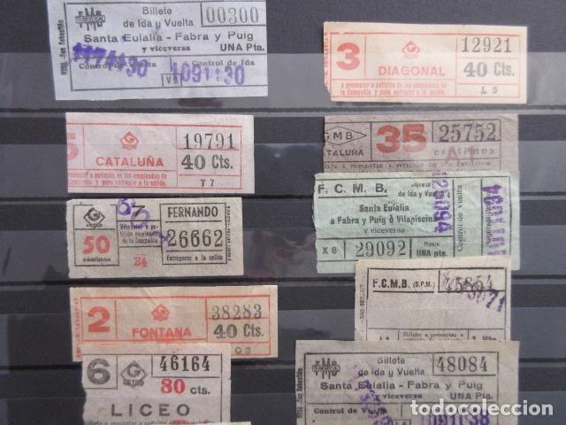 Coleccionismo Billetes de transporte: LOTE 20 BILLETES CAPICUA NUMEROS DIFERENTES METRO DE BARCELONA - Foto 3 - 175891599