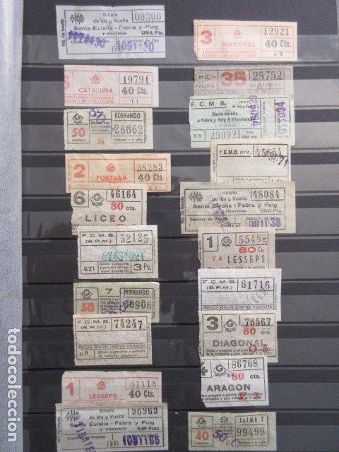 LOTE 20 BILLETES CAPICUA NUMEROS DIFERENTES METRO DE BARCELONA (Coleccionismo - Billetes de Transporte)