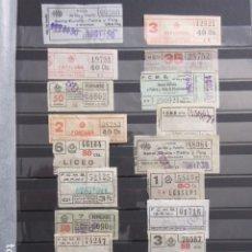 Coleccionismo Billetes de transporte: LOTE 20 BILLETES CAPICUA NUMEROS DIFERENTES METRO DE BARCELONA . Lote 175891599
