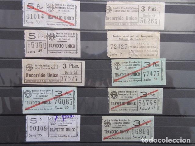 Coleccionismo Billetes de transporte: LOTE 18 BILLETES CAPICUA NUMERO DIFERENTE AUTOBUSES DE SANTANDER - Foto 2 - 175891834