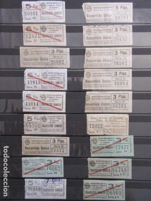 LOTE 18 BILLETES CAPICUA NUMERO DIFERENTE AUTOBUSES DE SANTANDER (Coleccionismo - Billetes de Transporte)