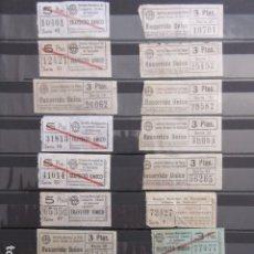 Coleccionismo Billetes de transporte: LOTE 18 BILLETES CAPICUA NUMERO DIFERENTE AUTOBUSES DE SANTANDER. Lote 175891834