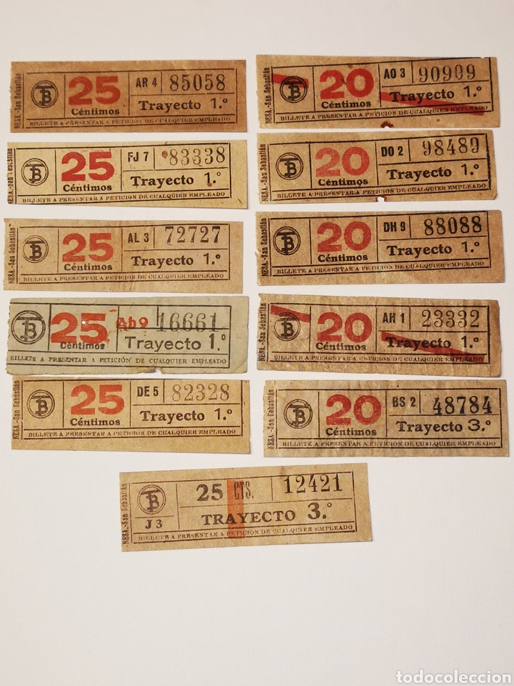 Coleccionismo Billetes de transporte: BILLETE TRANSPORTE, TRAMVIA, TRANVIA BARCELONA 11 BILLETES CAPICUA - Foto 2 - 176022090
